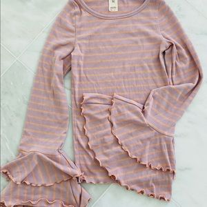 We The Free Butterfly cuff top - lavender & peach